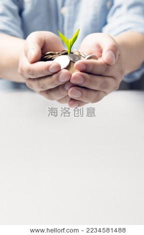 手捧钱币 - 商业/金融,抽象 - 站酷海洛创意正版图片