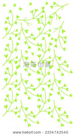 插画满天星植物纹底纹 - 背景/素材 - 站酷海洛创意