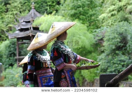 侗族采茶姑娘