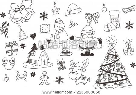 圣诞节手绘 - 背景/素材,艺术 - 站酷海洛创意正版