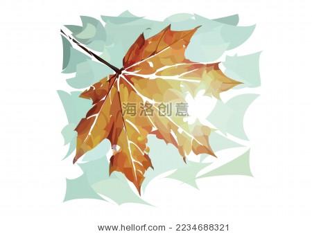 秋天落叶矢量插画