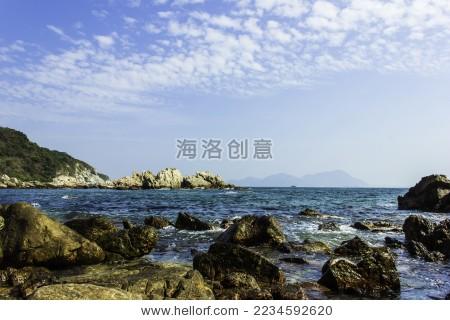 礁石 海滩 海边 海天 石头 自然 热带 - 背景/素材