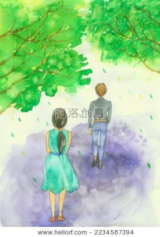 树下的情侣