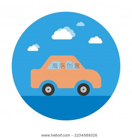 汽车图标矢量设计-商业/金融