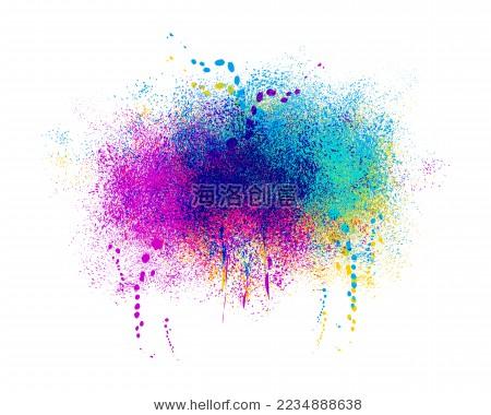 彩色墨水泼溅抽象背景 - 背景/素材,艺术 - 站酷海洛