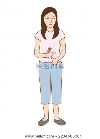 聋人聋哑人残疾残障卡通人物角色