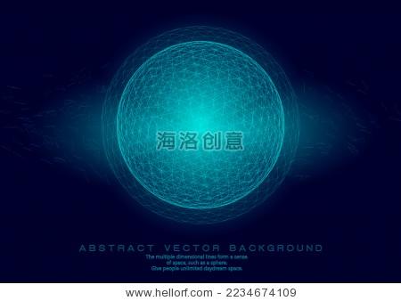 3d多边形网格球体,抽象矢量素材