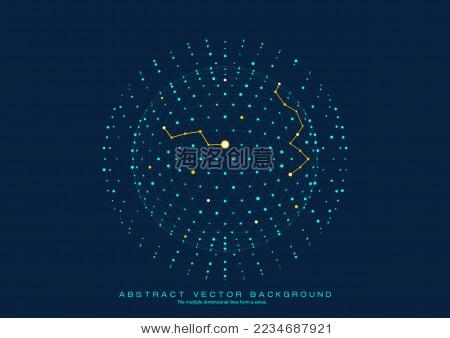 点线连接的科技矢量背景