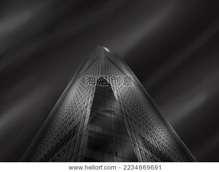 黑白明度建筑物仰视角度背景