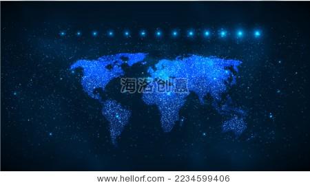世界地图矢量素材-自然