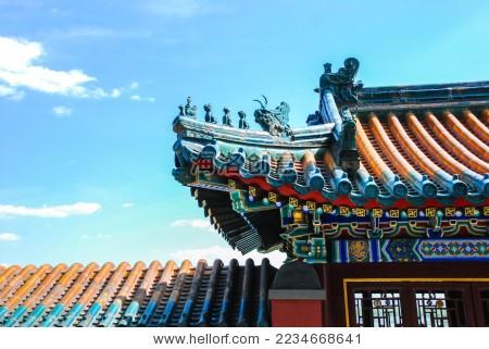 北京故宫建筑屋檐图片