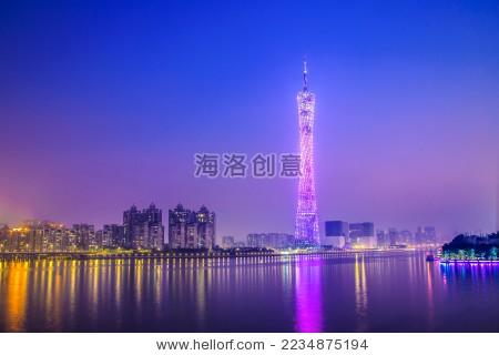 广州电视塔夜景