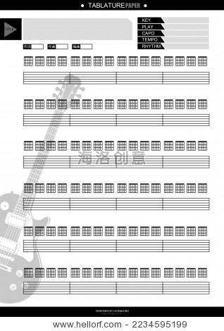 吉他六线谱空白谱本