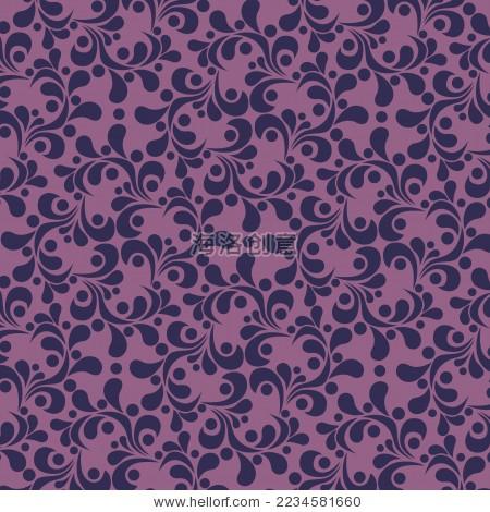 紫色欧式花纹-背景/素材-海洛创意(hellorf)-中国