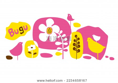 布谷鸟的卡通矢量设计-动物/野生生物