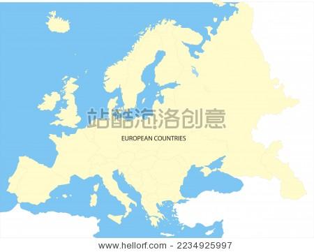 欧洲地图 - 背景/素材 - 站酷海洛创意正版图片,视频