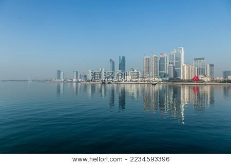 青岛海边城市-建筑物/地标
