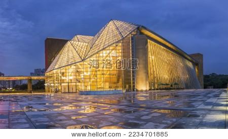 深圳音乐厅-背景/素材,商业/金融-海洛创意正版图片