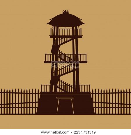 中国古建筑箭塔 瞭望塔