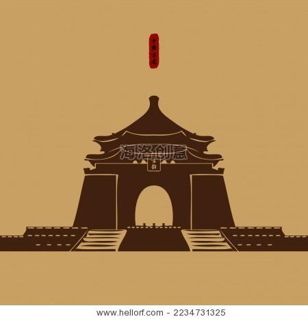 中国古典塔建筑宫殿 剪影矢量素材