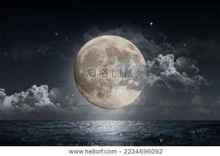 海上升明月 - 背景/素材,自然 - 站酷海洛创意正版